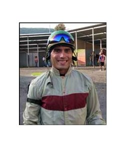 "Jockey Vladimir Diaz plays the role of Jacinto Vasquez in ""Ruffian""."
