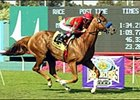 Bayamo winning the American Handicap, Sunday at Hollywood Park.
