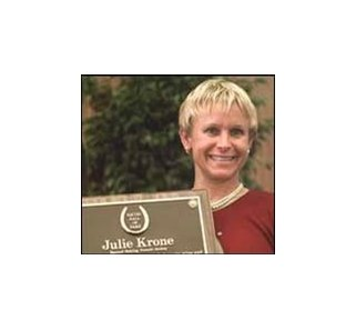 Julie Krone to receive Rudolph Award at evening ceremony.