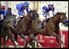 Essence of Dubai (left, 6) defeats Total Impact in the UAE Derby.