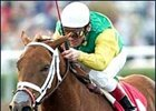 Dance Daily and jockey Jon Court score a narrow victory in the Santa Ynez Stakes, Monday at Santa Anita.