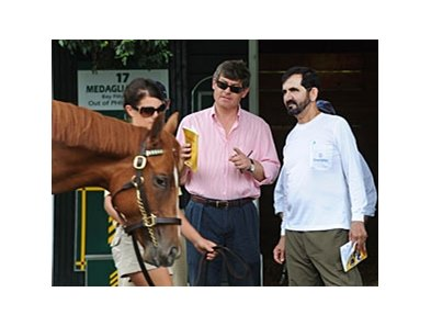 Sheikh Mohammed inspecting at the Fasig-Tipton Saratoga Sale