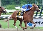 "Flashing, who won the Test in her most recent start, faces older horses for the first time in the Presque Isle Downs Masters.<br><a target=""blank"" href=""http://www.bloodhorse.com/horse-racing/photo-store?ref=http%3A%2F%2Fpictopia.com%2Fperl%2Fgal%3Fprovider_id%3D368%26ptp_photo_id%3D8393558%26ref%3Dstory"">Order This Photo</a>"