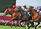 Mutual Trust (center) wins the Prix Jean Prat