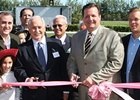 Opening ceremonies at Hialeah; left: John Brunetti, right: Hialeah Mayor Julio Robaina