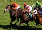 "Heros Reward (left, orange) outfights Cannonball (center) and Chamberlain Bridge to take the Shakertown.<br><a target=""blank"" href=""http://www.bloodhorse.com/horse-racing/photo-store?ref=http%3A%2F%2Fpictopia.com%2Fperl%2Fgal%3Fprovider_id%3D368%26ptp_photo_id%3D8000017%26ref%3Dstory"">Order This Photo</a>"