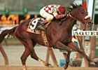 Windsor Castle, ridden by Robbie Davis, cruises to win the Grade II $200,000 Remsen at Aqueduct Race Track, Saturday, Nov. 25, 2000, in New York. (AP Photo/The New York Racing Association, Adam Coglianese)