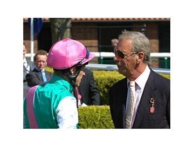 Henry Cecil (right) at Newmarket.