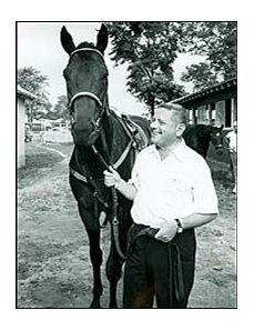 Carry Back with breeder/owner/trainer Jack Price