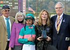 Team Zenyatta (left to right): Trainer John Shirreffs and his wife Dottie, jockey Mike Smith, and owners Ann and Jerry Moss.