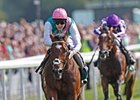 Frankel wins the Juddmonte International.