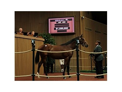 The third session of the Keeneland September yearling sale in Lexington was led by Hip #469, who sold for $1.55 million.