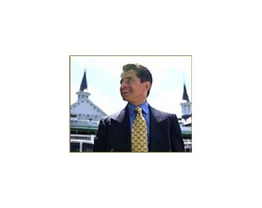 Jockey Jose Santos, with the twin spires of Churchill Downs behind him, named in report on jockey weight.