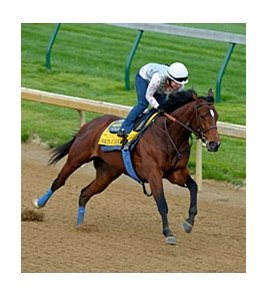"Leading KY Derby contender Lookin At Lucky went six furlongs in 1:12.00 at Churchill Downs.<br><a target=""blank"" href=""http://www.bloodhorse.com/horse-racing/photo-store?ref=http%3A%2F%2Fpictopia.com%2Fperl%2Fgal%3Fprovider_id%3D368%26ptp_photo_id%3D8902760%26ref%3Dstory"">Order This Photo</a>"