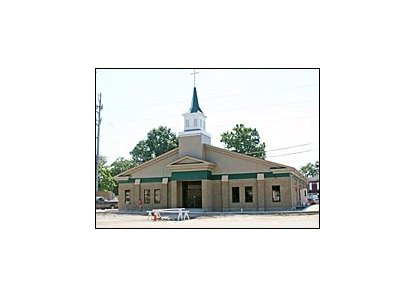 Christ Chapel, located in stable area at Churchill Downs.