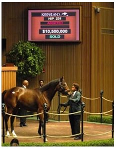 Playful Act sets world record for a broodmare, selling for $10.5 million at Keeneland Monday.
