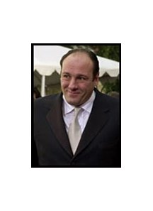 "Actor James Gandolfini was among the cast from ""The Sopranos"" at Aqueduct Monday."