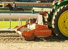 Synthetic track repair at Santa Anita.