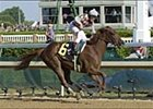 Funny Cide, winning the 2003 Kentucky Derby.