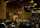 The crowd watches as Royal Delta sells for $8.5 million at the Keeneland November breeding stock auction.