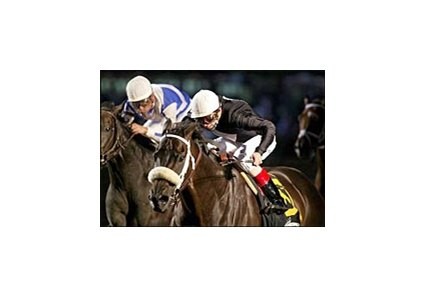 Balto Star, edging Dynever to win the Meadowlands Cup.