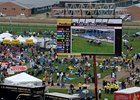 The infield at Pimlico on Preakness day