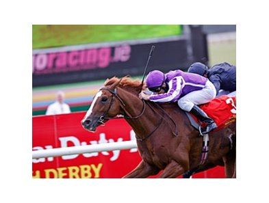 Cape Blanco held off stablemate Midas Touch by a half-length to capture the Dubai Duty Free Irish Derby at the Curragh.