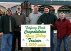 Trainer Greg Foley (2nd from right) notched his 1,000th career victory Jan. 26.