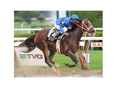 "Be Fair won the Lake George, which was taken off the turf. <br><a target=""blank"" href=""http://www.bloodhorse.com/horse-racing/photo-store?ref=http%3A%2F%2Fpictopia.com%2Fperl%2Fgal%3Fprovider_id%3D368%26ptp_photo_id%3D8377475%26ref%3Dstory"">Order This Photo</a>"