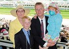 Rachel Mattson and her family at Churchill Downs.