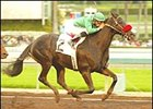 Truly A Judge, ridden by Martin Pedroza, wins the San Gabriel Handicap, Saturday at Santa Anita.