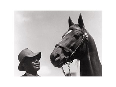 "Man O'War takes on Seattle Slew.<br><a href=""http://www.BloodHorse.com/March-into-May"">CLICK HERE TO PLAY</A>"