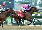 La Verdad takes the Vagrancy at Belmont Park. 