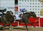 "Kelly's Landing, ridden by Franki Dettori, wins the Dubai Golden Shaheen during the Dubai World Cup.<br><a target=""blank"" href=""http://www.bloodhorse.com/horse-racing/photo-store?ref=http%3A%2F%2Fpictopia.com%2Fperl%2Fgal%3Fprovider_id%3D368%26ptp_photo_id%3D950130%26ref%3Dstory"">Order This Photo</a>"