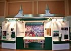 The Churchill Downs Incorporated educational 'Safety Center' is on display inside Gate 17 at the track.