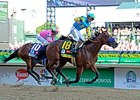 American Pharoah wins the Kentucky Derby.
