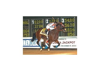 Texcess, winner of the Boyd Gaming Delta Jackpot Stakes, has been added to the Barretts winter mixed sale.