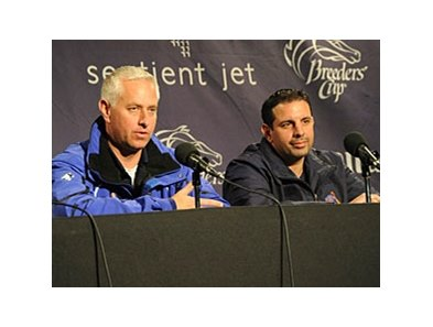 Todd Pletcher and Mike Repole at Churchill Downs.