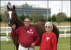 Ken & Sarah Ramsey, with Male Turf winner Kitten's Joy