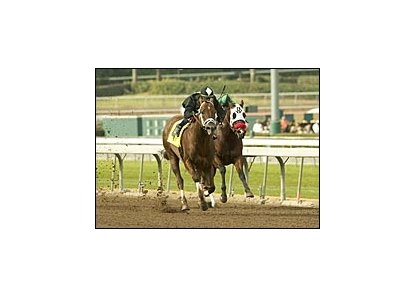 Friendly Island puts away Limited Creole en route to victory in the Palos Verdes.