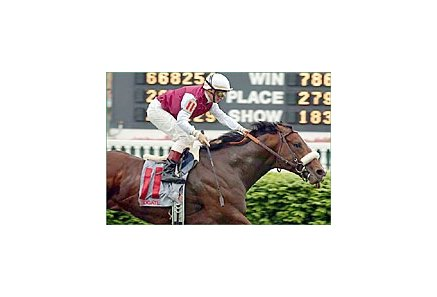 Lydgate, with Pat Day up, winning the Aegon Turf Sprint at Churchill.