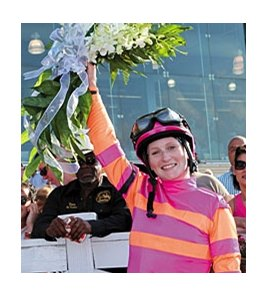 Rosie Napravnik will be part of the Pimlico Female Jockey Challenge on May 20.