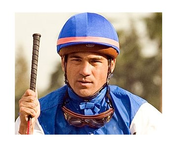Jockey Corey Nakatani suffered a broken right clavicle in a Jan. 19 training mishap.