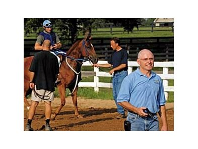 Chris McCarron during a typical work day at his North American Racing Academy in Lexington, Ky.