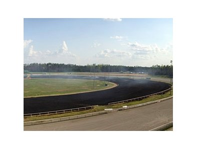Track burning at Colonial Downs