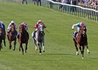 Frankel (right) wins the Two Thousand Guineas April 30 at Newmarket, England