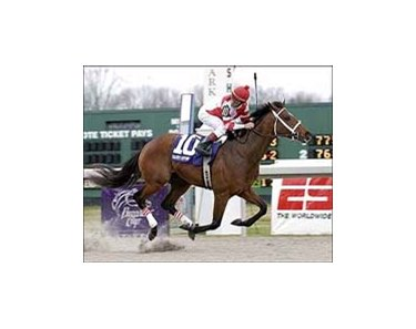 "Lane's End winner Hard Spun is Derby bound.<br><a target=""blank"" href=""http://www.bloodhorse.com/horse-racing/photo-store?ref=http%3A%2F%2Fpictopia.com%2Fperl%2Fgal%3Fprovider_id%3D368%26ptp_photo_id%3D923452%26ref%3Dstory"">Order This Photo</a>"