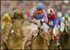 Volponi, center, winning the 2002 Breeders' Cup Classic.