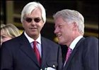 While Bob Baffert was entertaining former president Clinton, the trainer's team was preparing Point Given for the Belmont.