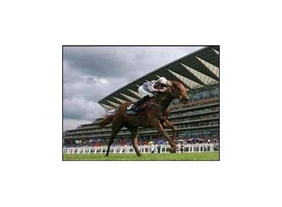Indian Ink swept past her rivals in the last 100 yards and romped to a six length victory in the Coronation Stakes, Friday at Royal Ascot.